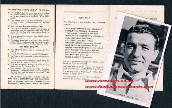 1951 Cockburn Sportfoto folder card